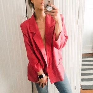 Vintage Hot Pink Open Blazer*